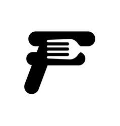 f for fork logo vector image