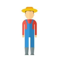 farmer color icon vector image