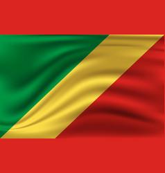 flag congo realistic waving republic vector image