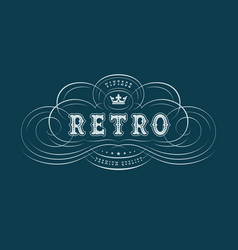 Flourish vintage label vector