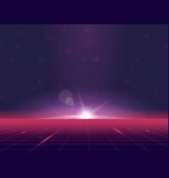 futuristic grid background vector image
