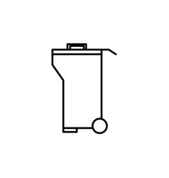 garbage container icon vector image