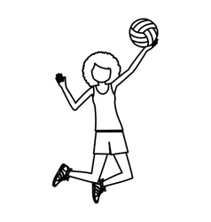 Girl playing volleyball design vector
