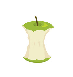 green apple stump in vector image