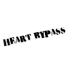 Heart Bypass rubber stamp vector