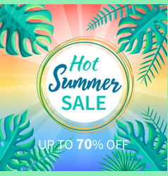 hot summer sale up to off tropical paradise advert vector image