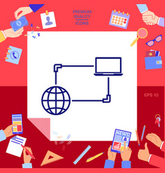 internet connection data exchange transfer vector image