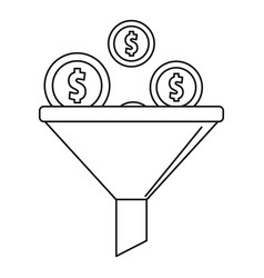 investment icon outline style vector image