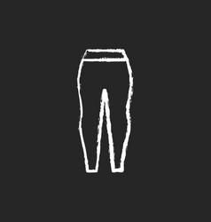 Leggings chalk white icon on dark background vector