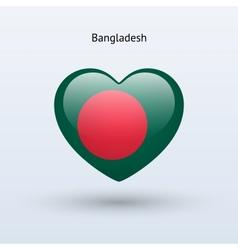 Love Bangladesh symbol Heart flag icon vector