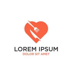 love food logo design vector image