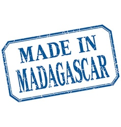 Madagascar - made in blue vintage isolated label vector