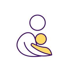 maternal bond rgb color icon vector image