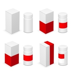Medical bottle vector image