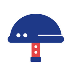 Military helmet silhouette style icon vector