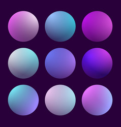 Modern 3d gradient set vector