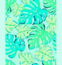 monstera leaf seamless pattern vector image