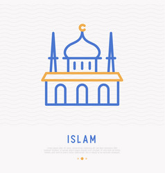 Mosque thin line icon vector