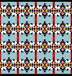 Navajo print aztec seamless pattern geometric vector