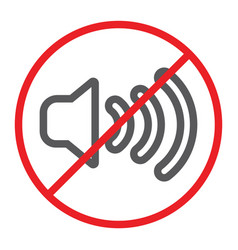 no sound line icon prohibited and silence no vector image