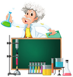 old scientist in the lab vector image