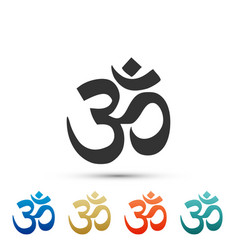 om or aum indian sacred sound icon isolated vector image