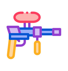 paintball gun icon outline vector image