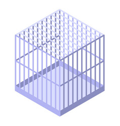 Parrot cage icon isometric style vector