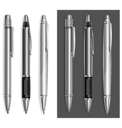 Pen beautiful gray vector