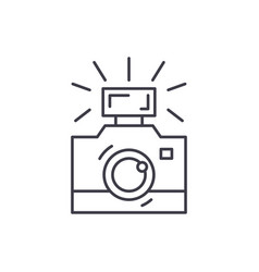 photography line icon concept photography vector image
