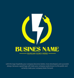 plug electric logo designs vector image