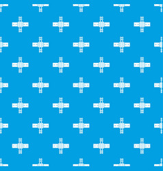 Railroad crossing pattern seamless blue vector