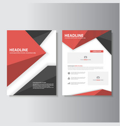 Red Black brochure flyer leaflet templates layout vector