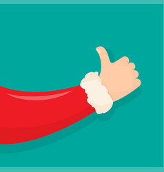 santa claus like hand vector image