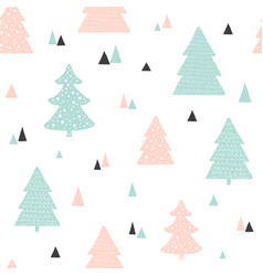 scandinavian christmas pattern childish vector image
