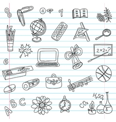school objects set vector image