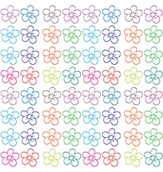 Seamless flowery design vector