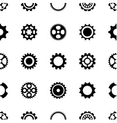 seamless pattern different gear wheels vector image
