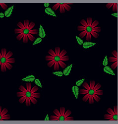 seamless pattern of flowers vector image