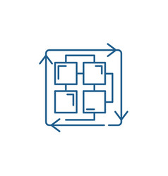 Sequence processes line icon concept sequence vector