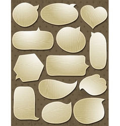 Set of special wooden labels and bubble vector image vector image