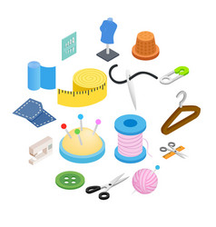 sewing isometric 3d icon vector image