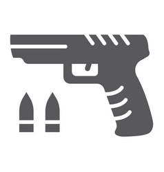 shooter game glyph icon game and play gun sign vector image
