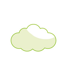 Silhouette natural cloud design to fresh weather vector