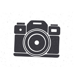 Silhouette retro photo camera vector