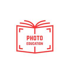 simple photo education logo vector image