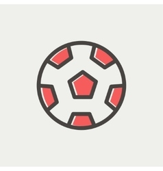 Soccer ball thin line icon vector image