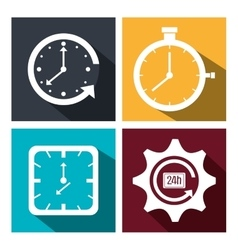 Timeclock watch icon vector