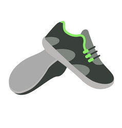 Trainers simple on white background vector