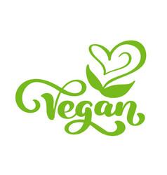 Vegan logo food design vector
